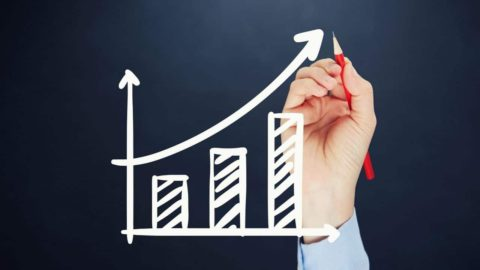 """Image of increasing chart for TitanHouse blog article titled """"Four Ways to Improve Your Sales Team's Performance"""""""