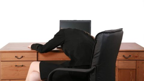 Image of defeated salesperson in a sales rut